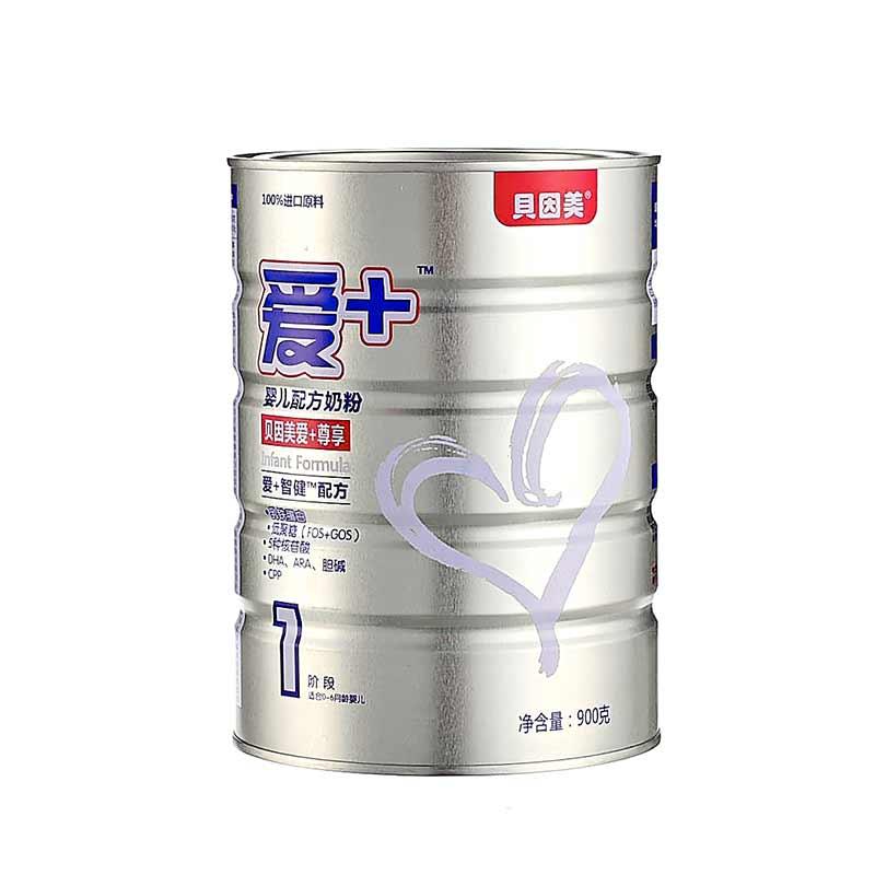 贝因美爱+尊享婴儿配方奶粉900g桶