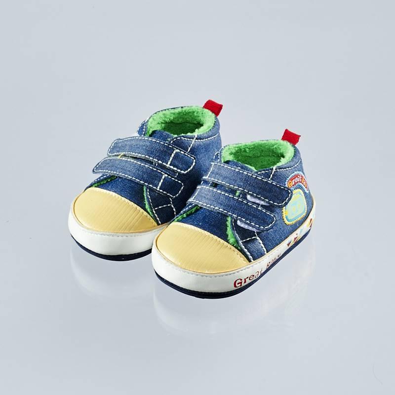 歌瑞贝儿(新)--时尚保暖婴儿鞋GB144-005SH蓝11CM