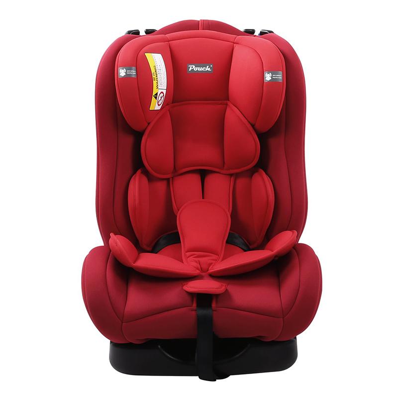 Pouch适用0-4-6岁宝宝便携式儿童安全座椅Q18-1红色