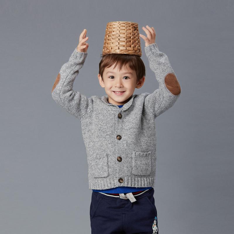 歌瑞家(圣诞系列)男童毛衣灰