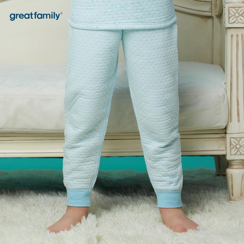 歌瑞家A类薄三保暖蓝男长裤