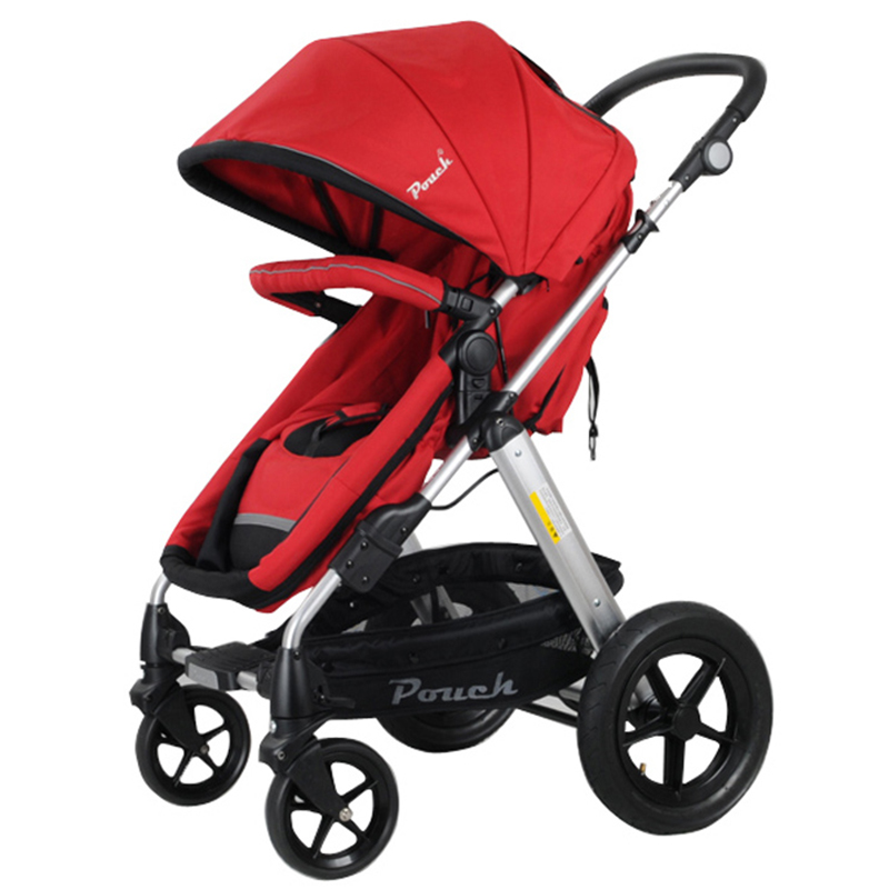 Pouch帛琦双向四轮折叠宝宝车坐平躺手推车轻便型童车高景观婴儿推车
