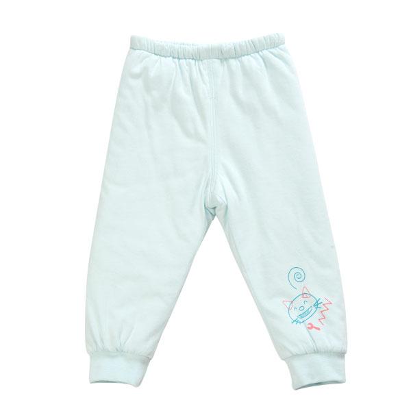 歌瑞贝儿(新)--夹棉机器宝宝可拆密档长裤/片印GB134-825KQ蓝100cm