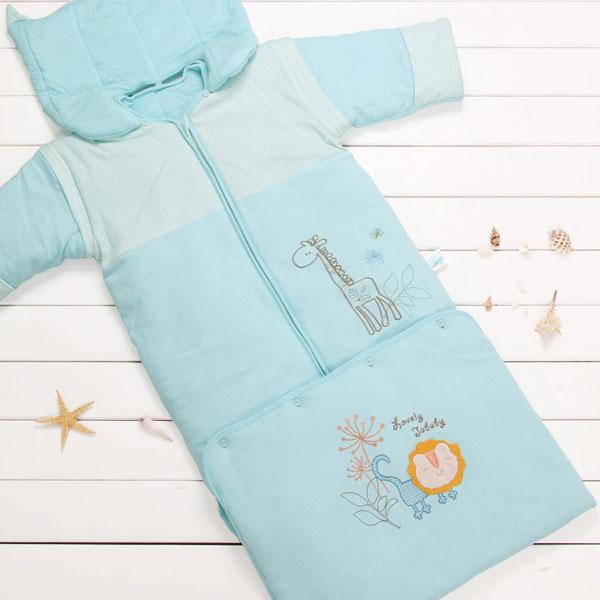 佳爱贝比(新)--五彩乐园袖管可脱卸加长睡袋JAQ-FS1263-2蓝混码