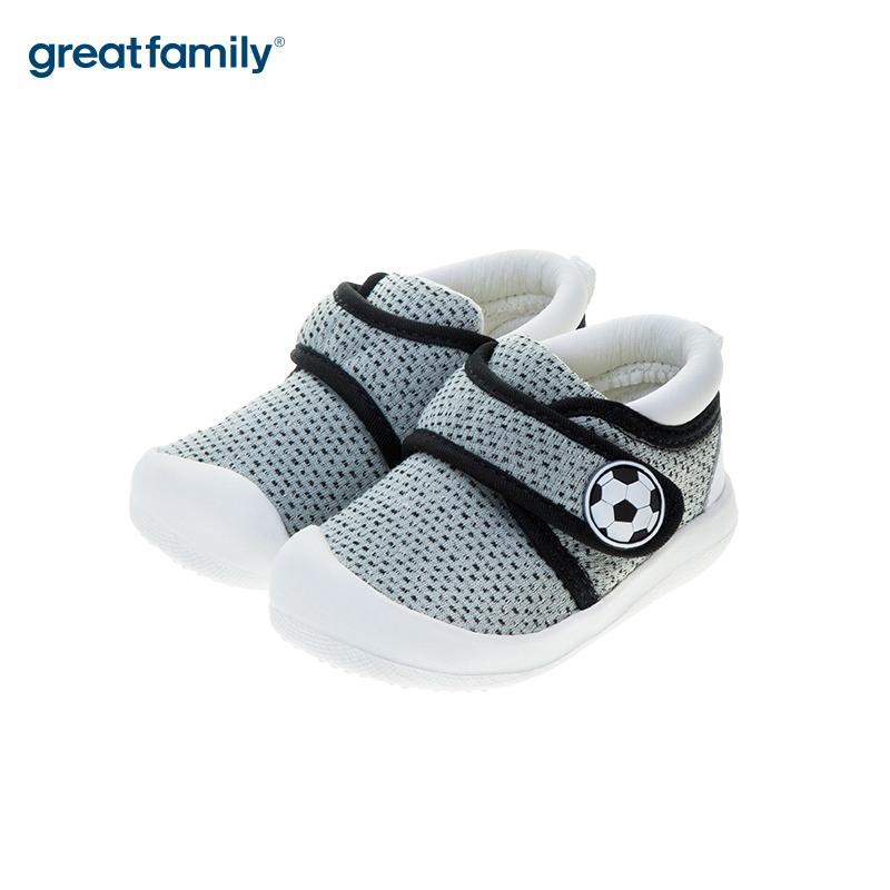 歌瑞贝儿(新)中性宝宝鞋GB183-009SH灰12CM双