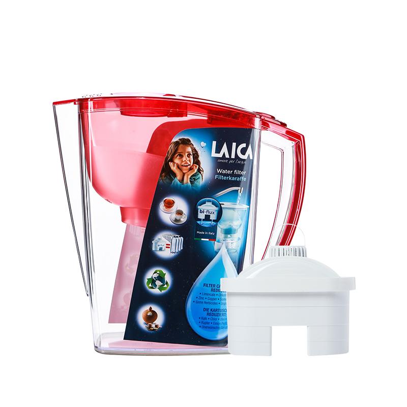 莱卡(LAICA)--滤水壶JA24红色一壶一芯3L/个