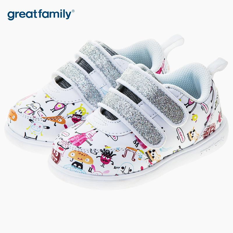 歌瑞凯儿(新)女婴滑板鞋GK183-006SH白14.5CM双