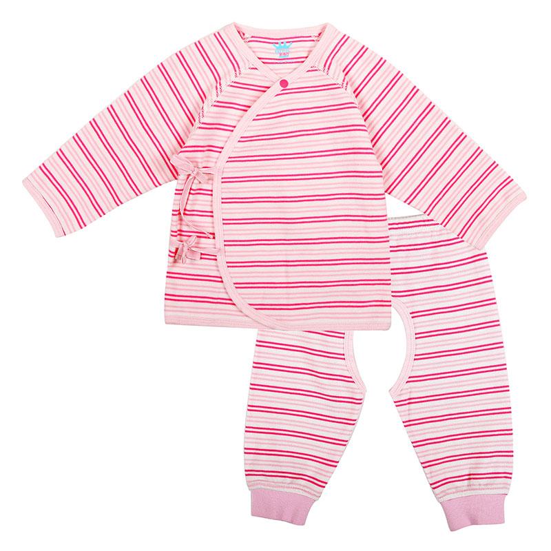 歌瑞家A类男女宝宝纯棉和短袍套装2色可选