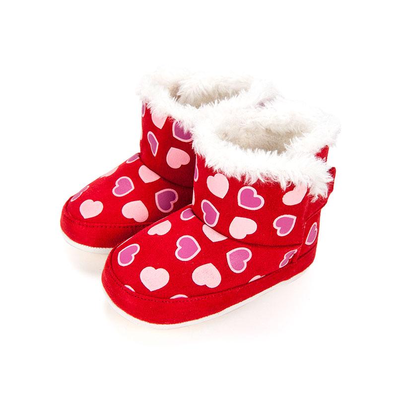 歌瑞家greatfamily女婴宝宝靴红色
