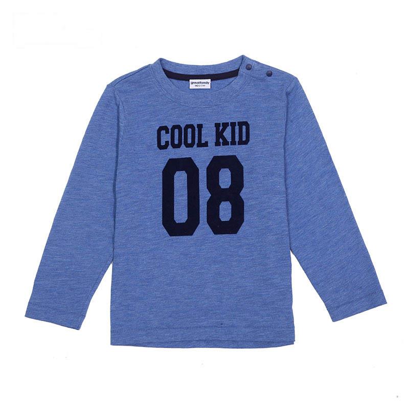 歌瑞凯儿A类男童蓝色长袖T恤