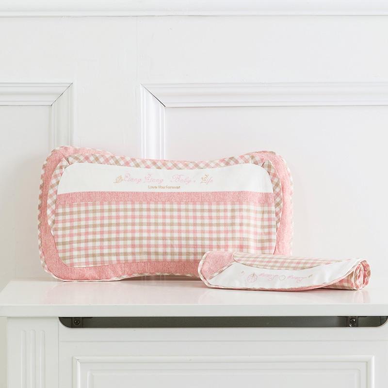 良良格彩童语婴幼儿护型保健枕(0-3岁标准)40.5*23(cm)粉LL17A01-1P