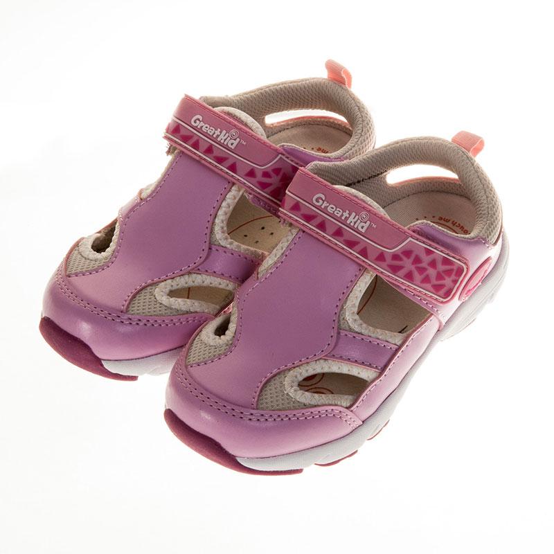 歌瑞凯儿休闲运动机能婴儿鞋粉13.5码GK151-022SH