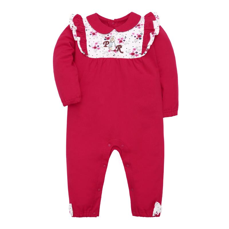 歌瑞家PeterRabbitA类红色女婴连身衣