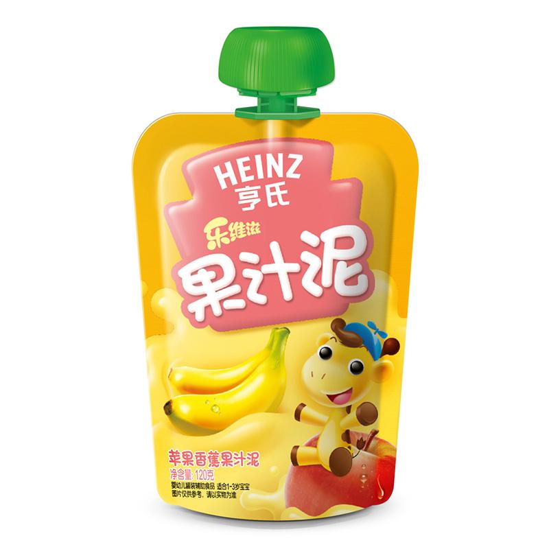 亨氏Heinz乐维滋果汁泥苹果香蕉120g富含维生素C