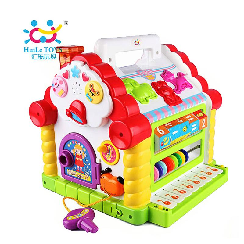 汇乐趣味小屋婴幼儿及学前早教玩具积木电子琴音乐