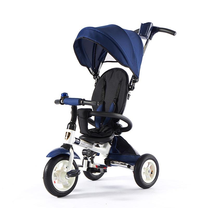 小虎子T300儿童三轮车可折叠1-3-6岁婴儿手推车小孩自行车宝宝脚踏车