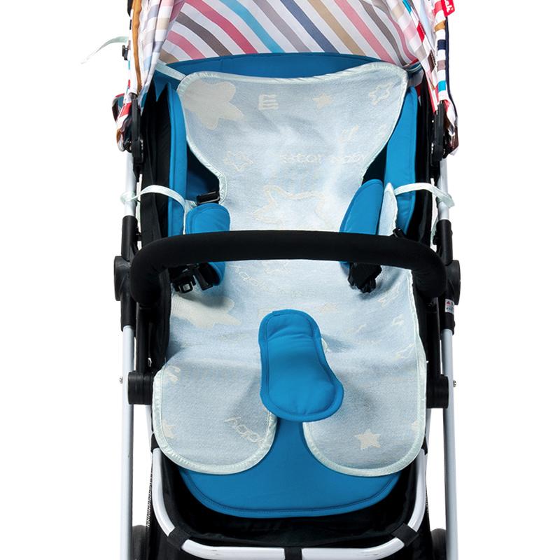 歌瑞家greatfamily冰丝分腿车席(含艾草包)蓝色80*35cm