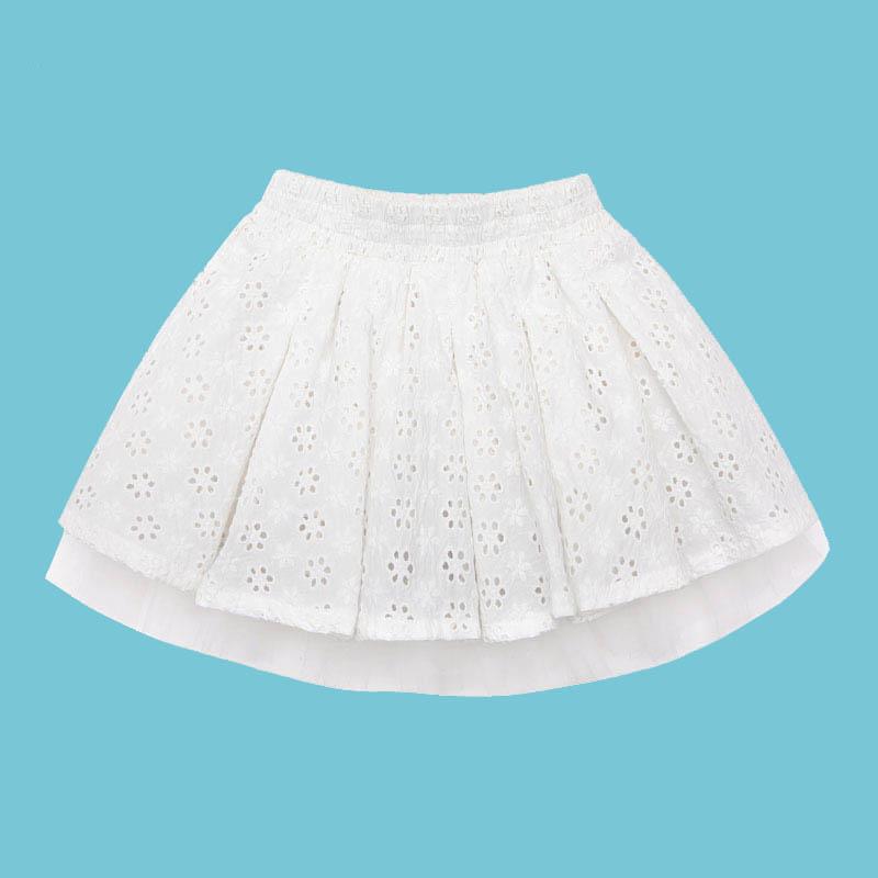歌瑞家A类女童白色梭织短裙