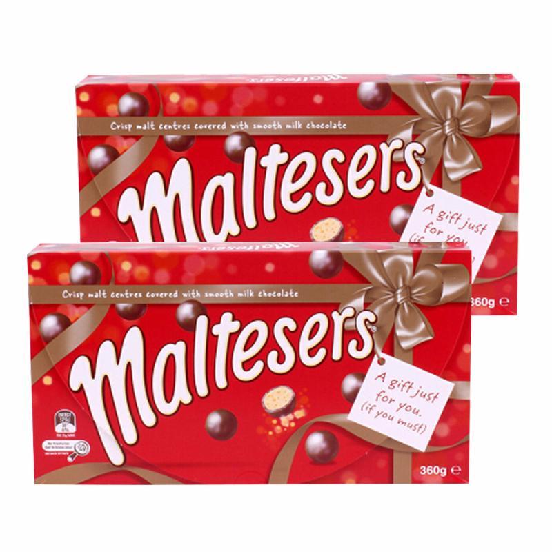 【新西兰直邮】Maltesers麦提莎巧克力麦丽素 礼盒装360g*2盒装