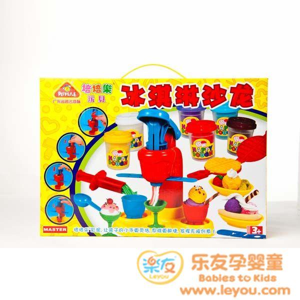 培培乐彩泥橡皮泥套装 冰激淋沙龙 过家家DIY玩具