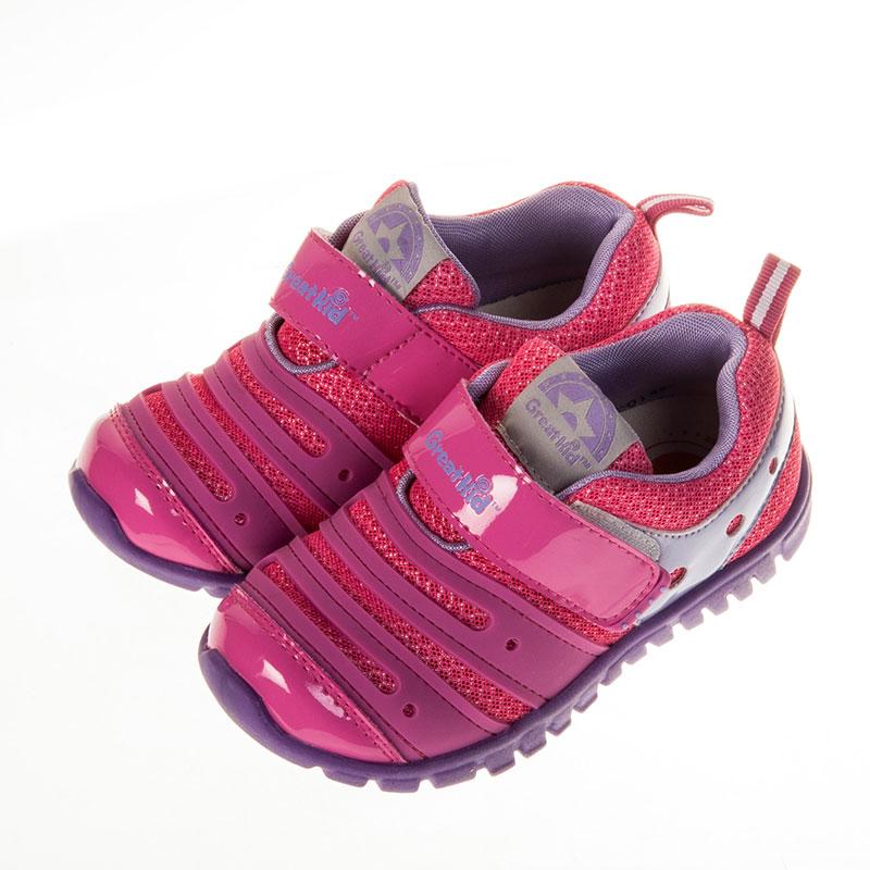 歌瑞凯儿小毛虫机能婴儿鞋梅红15码GK151-014SH