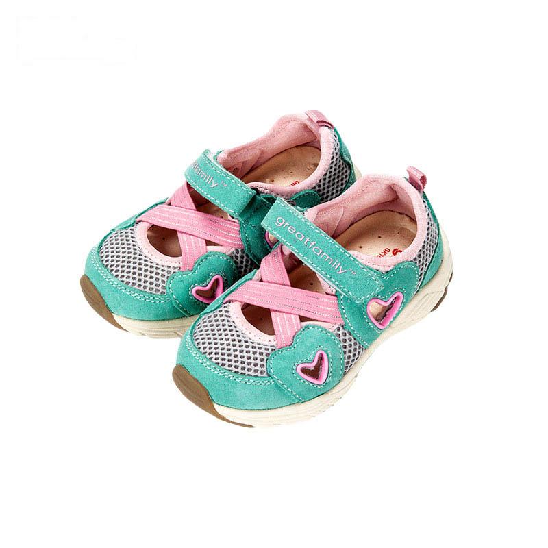 歌瑞凯儿女婴机能鞋GK162-004SH粉15cm双