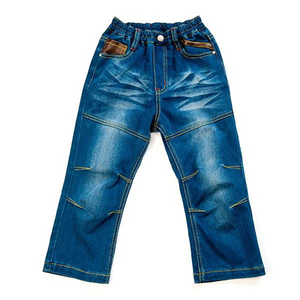歌瑞凯儿(新)--男童经典百搭修身牛仔长裤GK133-157KW蓝90