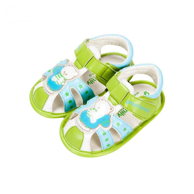 歌瑞贝儿男婴小熊凉鞋GB162-003SH绿11cm双