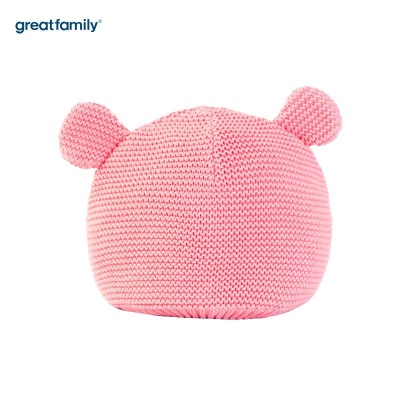 歌瑞家(Greatfamily)A类女童粉色针织帽