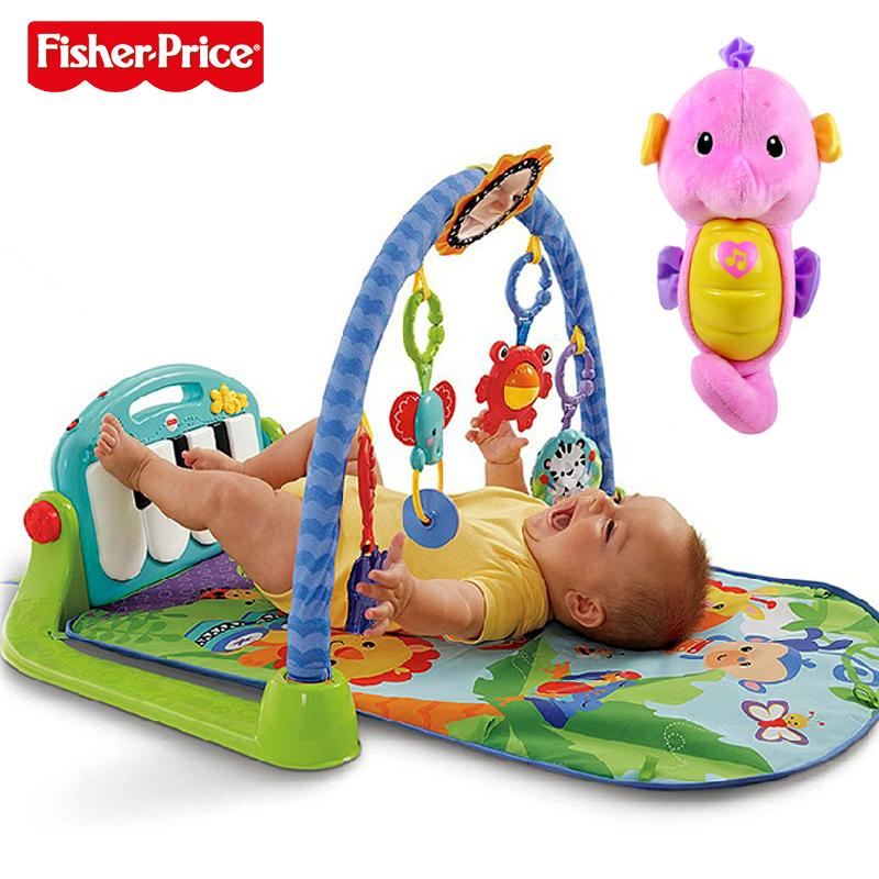 费雪(FisherPrice)声光安抚海马-粉色+费雪新琴琴健身器
