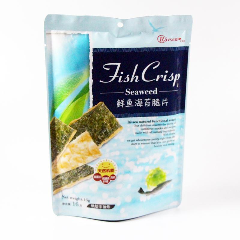禾泱泱Rivsea鲜鱼海苔脆片16g/袋