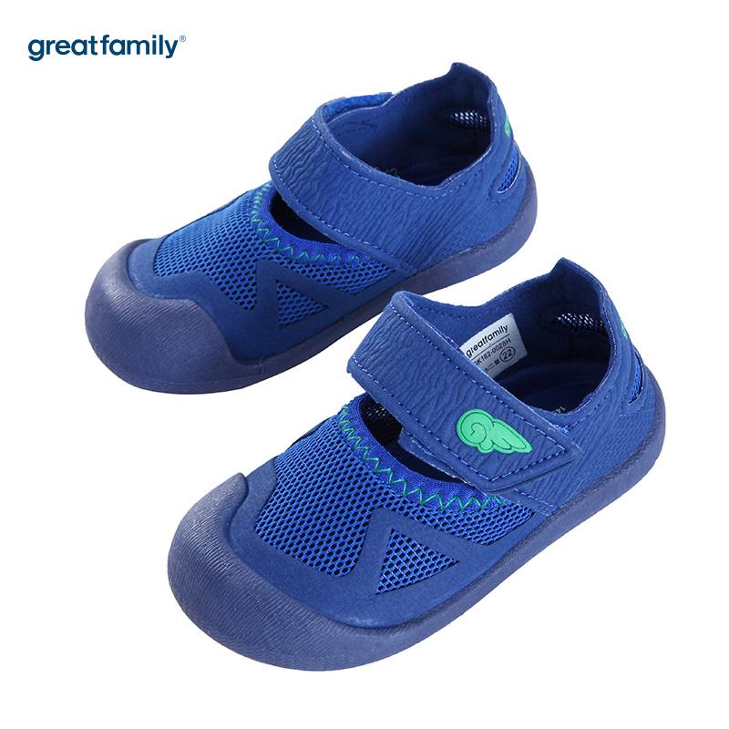 歌瑞家(greatfamily)男婴运动凉鞋GK182-002SH蓝13.5CM双