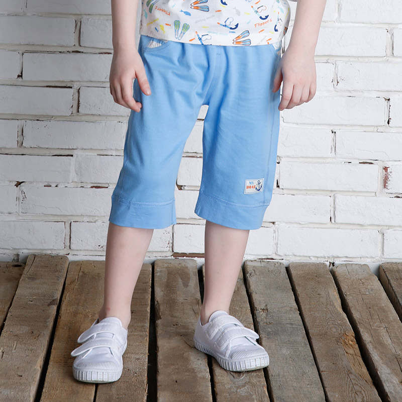 歌瑞家greatfamilyA类男蓝单面布七分裤