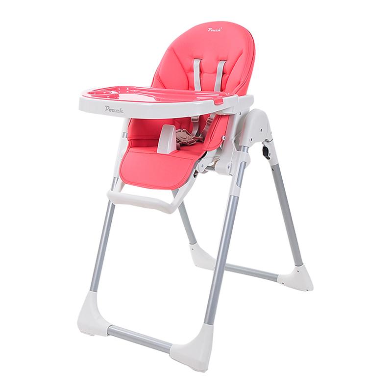 Pouch简约多功能便携婴儿餐椅K06粉色