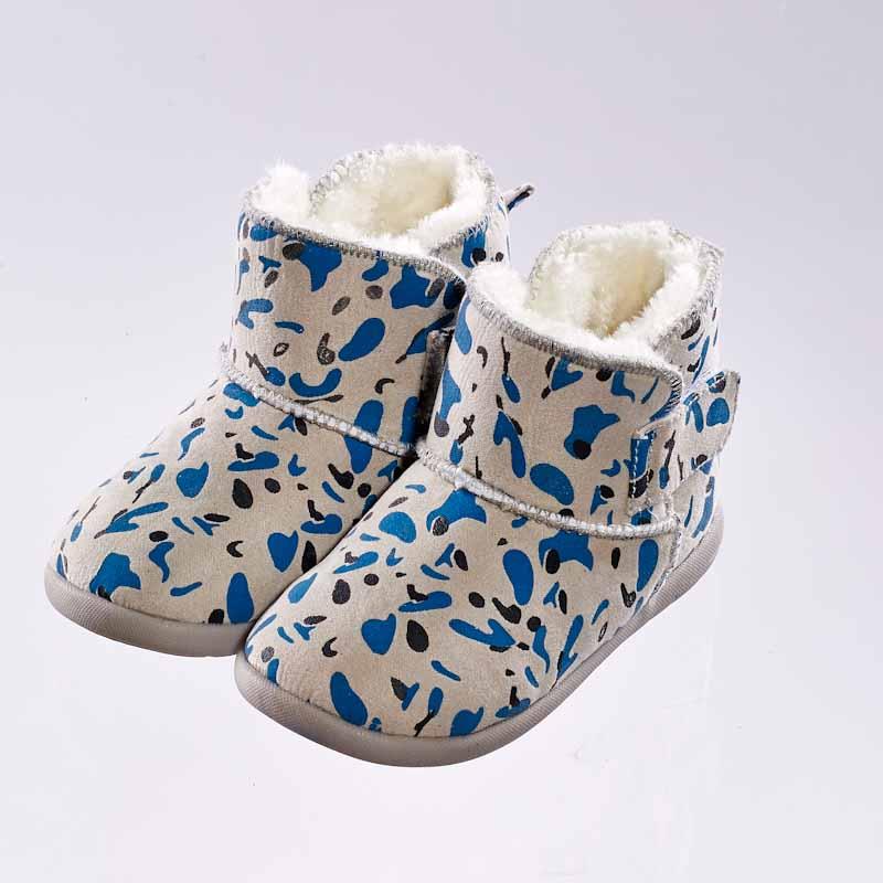 歌瑞贝儿(新)--时尚保暖靴婴儿鞋GB144-029SH灰14CM