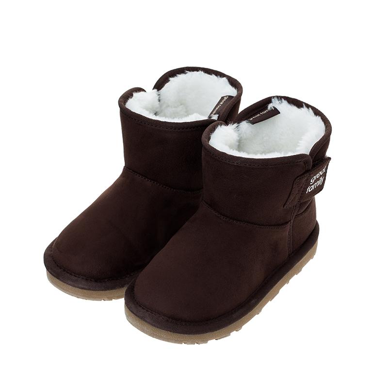 歌瑞凯儿(新)中性雪地靴GKR4-006SH褐色14CM双