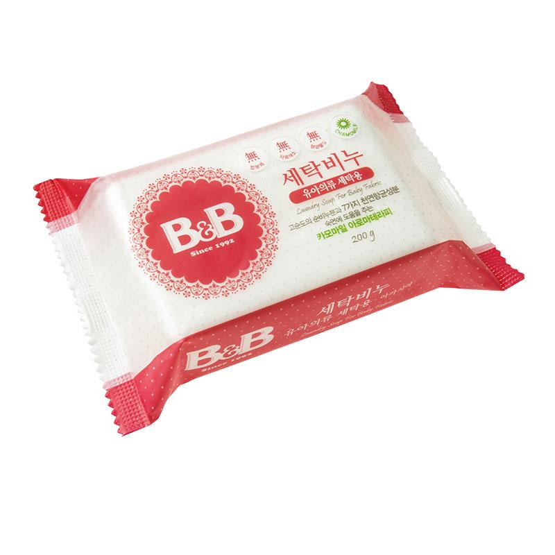 保宁B&B韩国进口宁洗衣香皂200g甘菊香味婴幼儿洗衣香皂