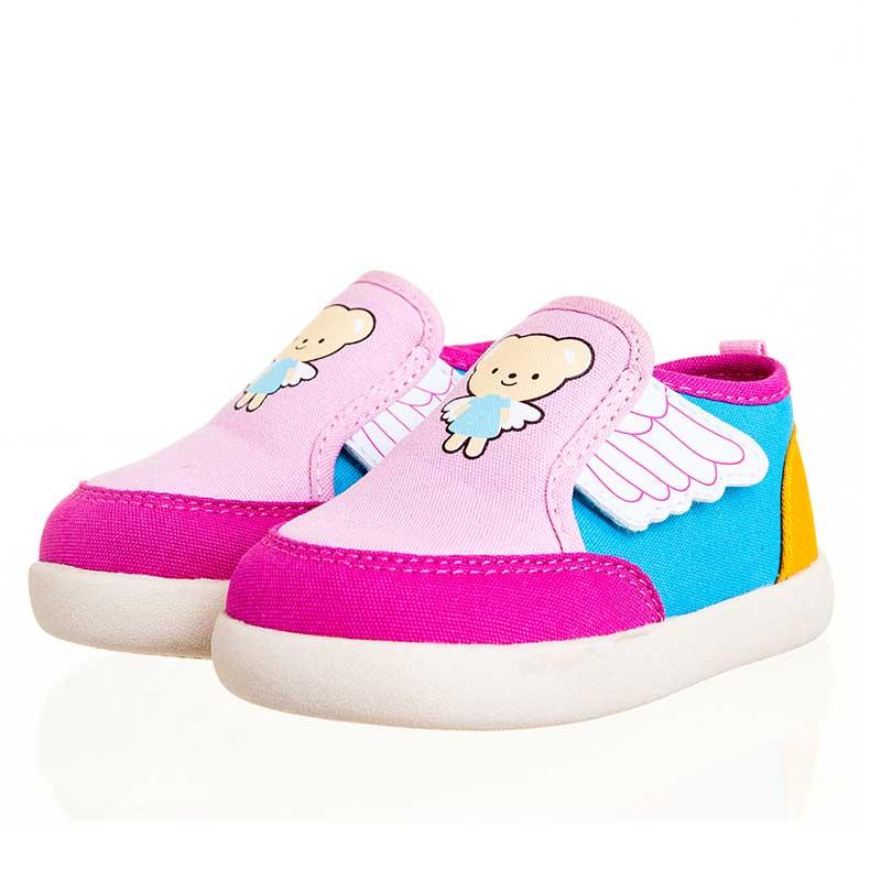 歌瑞贝儿(新)--天使学步鞋(女婴儿鞋)GB143-024SH粉14CM
