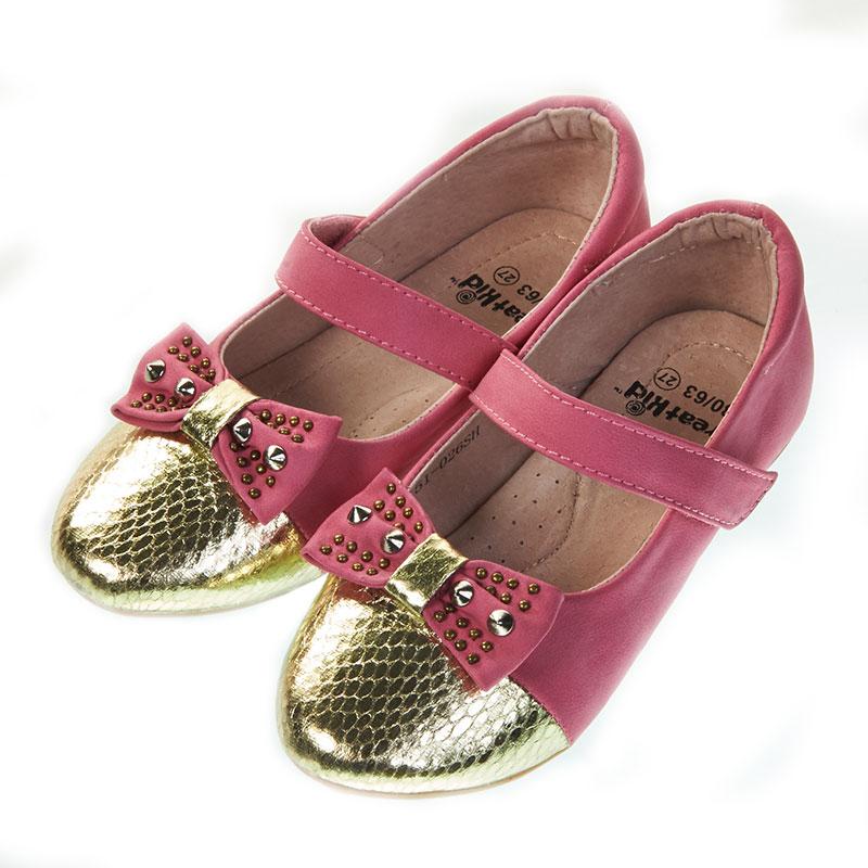 歌瑞凯儿时尚蝴蝶公主婴儿鞋梅红16码GK151-026SH