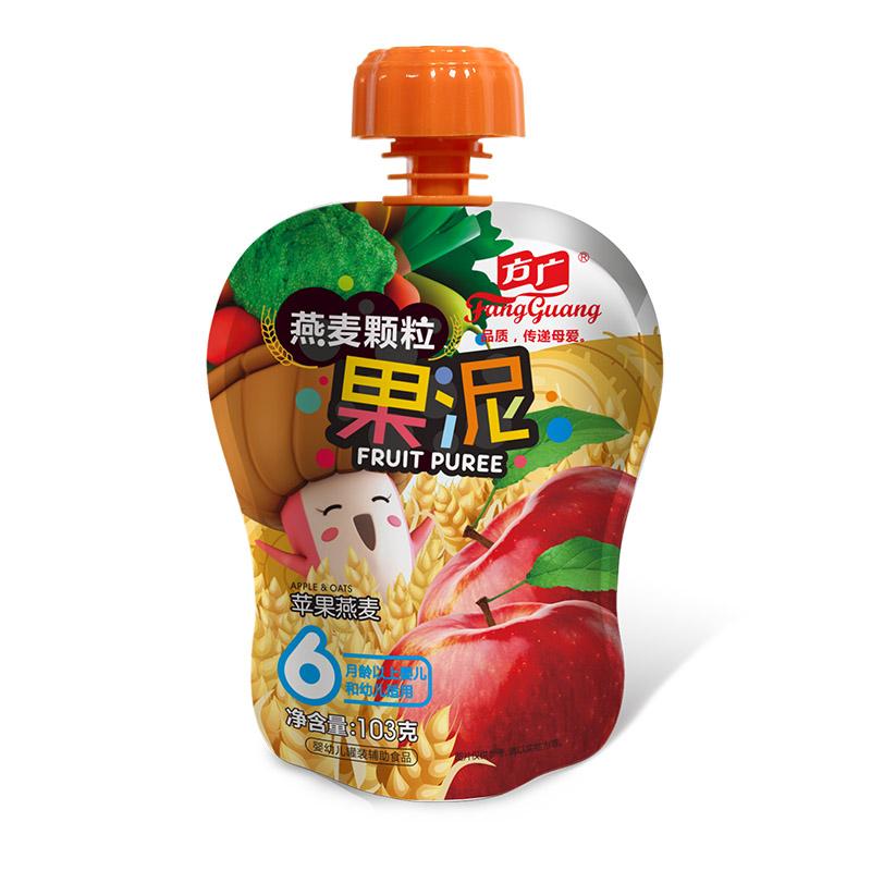 方广苹果燕麦颗粒果泥103g