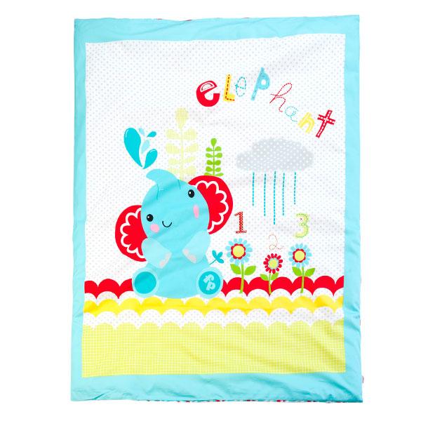 费雪(服纺新)--婴幼儿被套带芯KFP3F1BDBU1003蓝混码