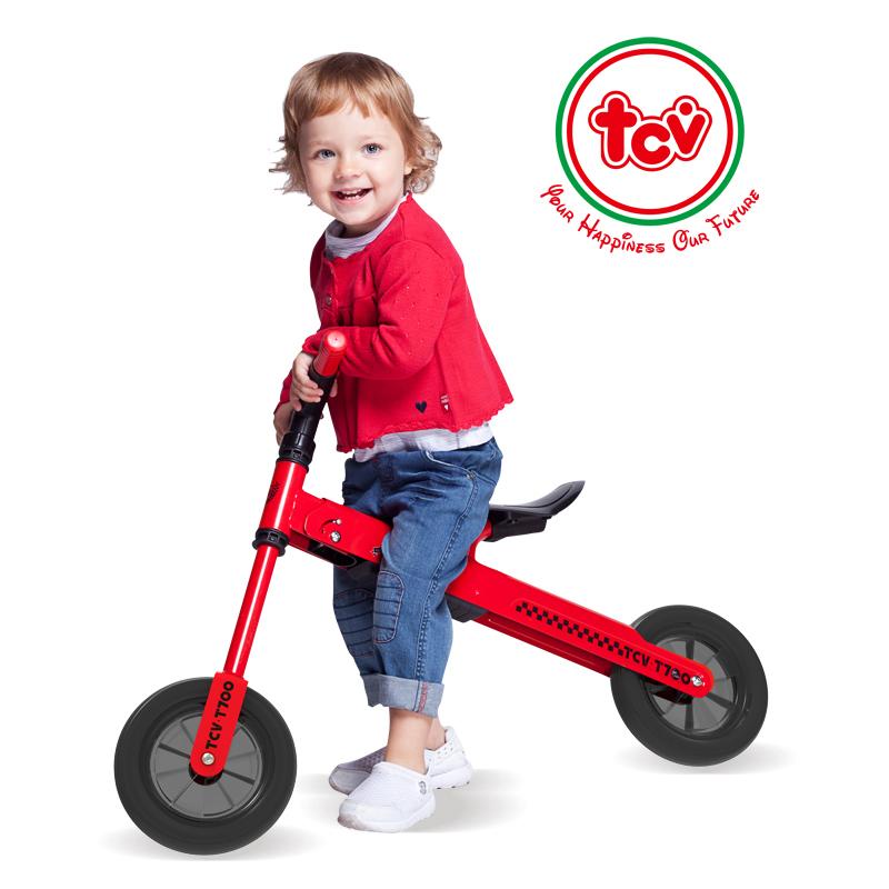 【乐海淘】台湾TCV折叠式儿童平衡滑步车T700 红 海外直邮