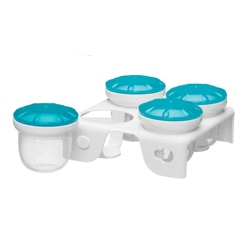 满趣健麦肯齐新鲜食物冷冻杯 宝宝辅食盒冷冻盒 婴儿辅食冷藏盒硅胶储存盒食物保鲜盒密封盒