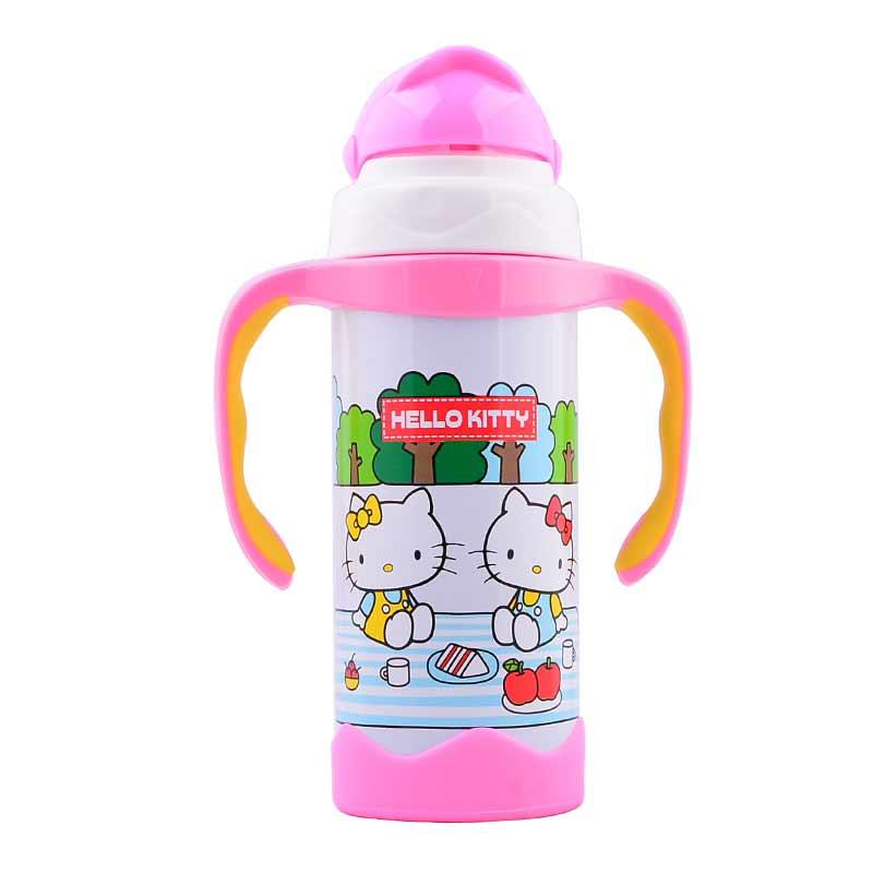 HelloKitty欢乐儿童学饮杯320ml白色