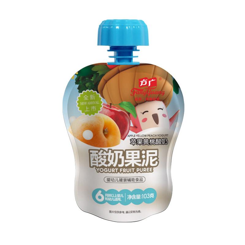 方广--苹果黄桃酸奶果泥103g
