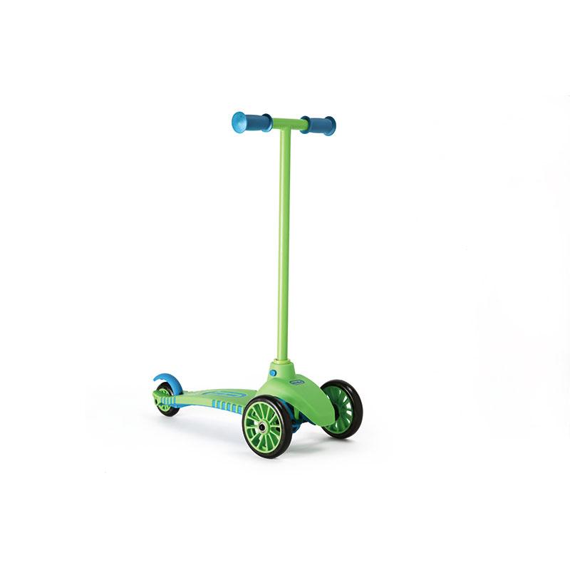 小泰克(Littletikes)儿童滑板车绿色蛙式三轮脚踏车宝宝踏板车滑轮车