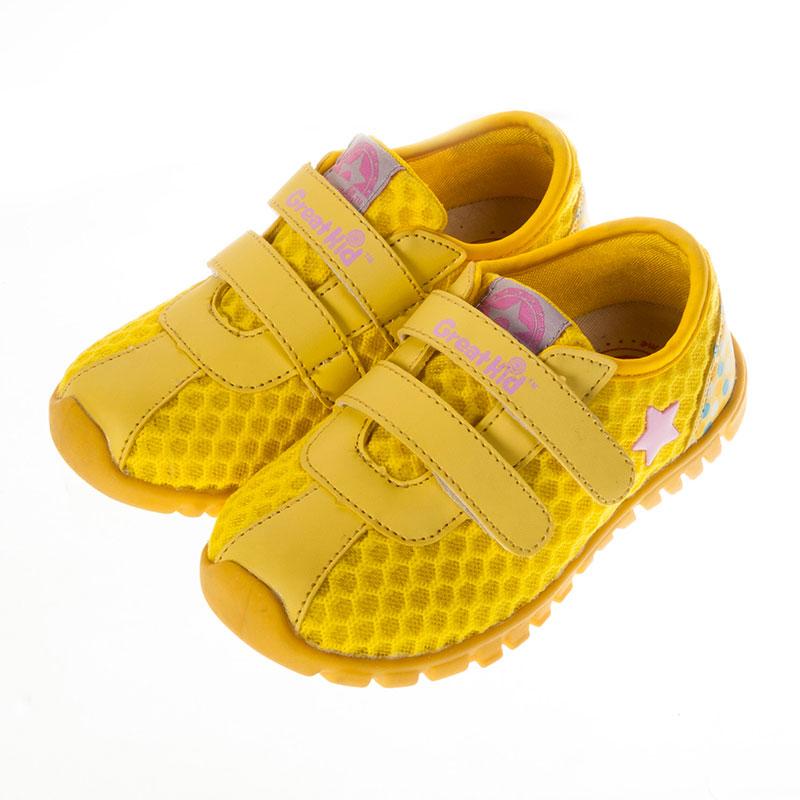 歌瑞凯儿休闲运动机能婴儿鞋黄13.5码GK151-020SH
