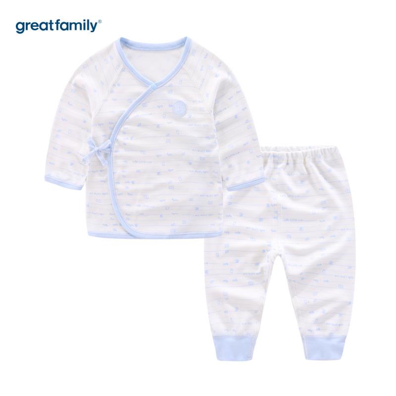 歌瑞家A类牛奶蛋白纤维系列蓝色男和袍套装