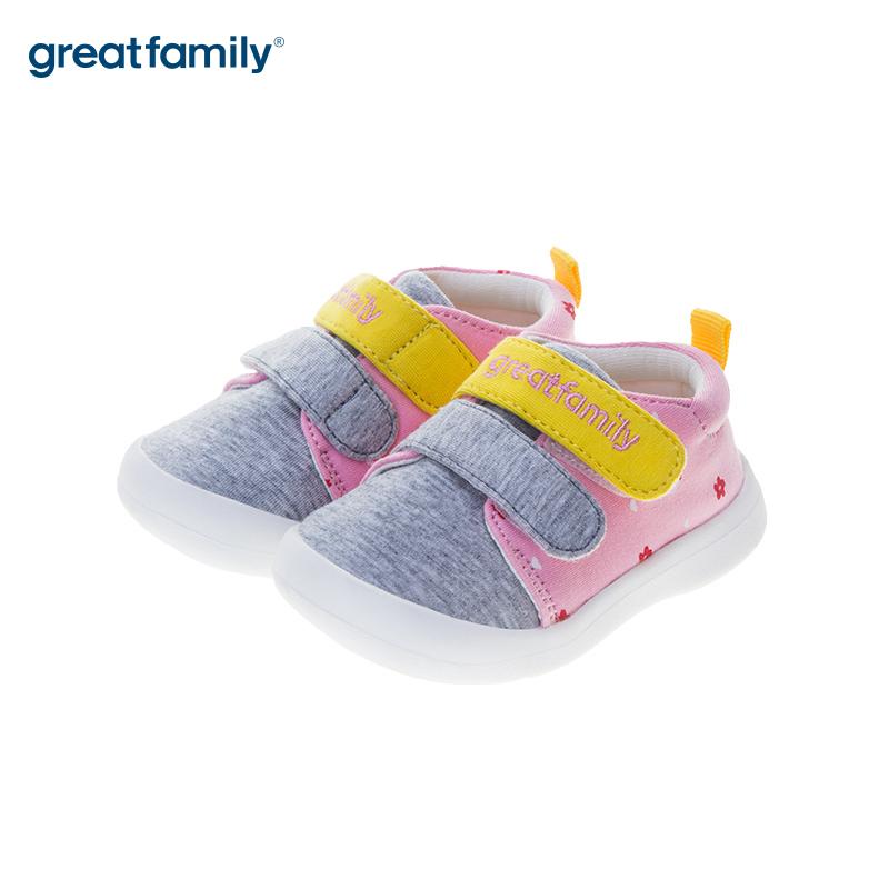 歌瑞贝儿(新)女婴宝宝鞋GB183-006SH粉12CM双