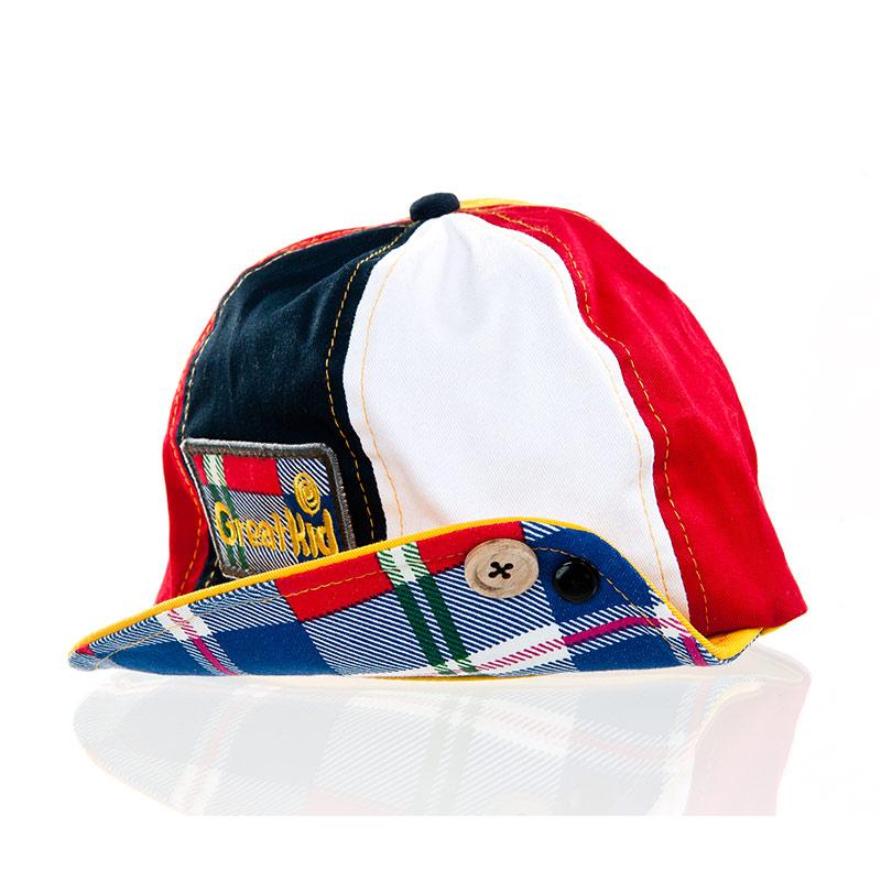 歌瑞凯儿(童配)--调皮彩色帽GK141-044A蓝48码个
